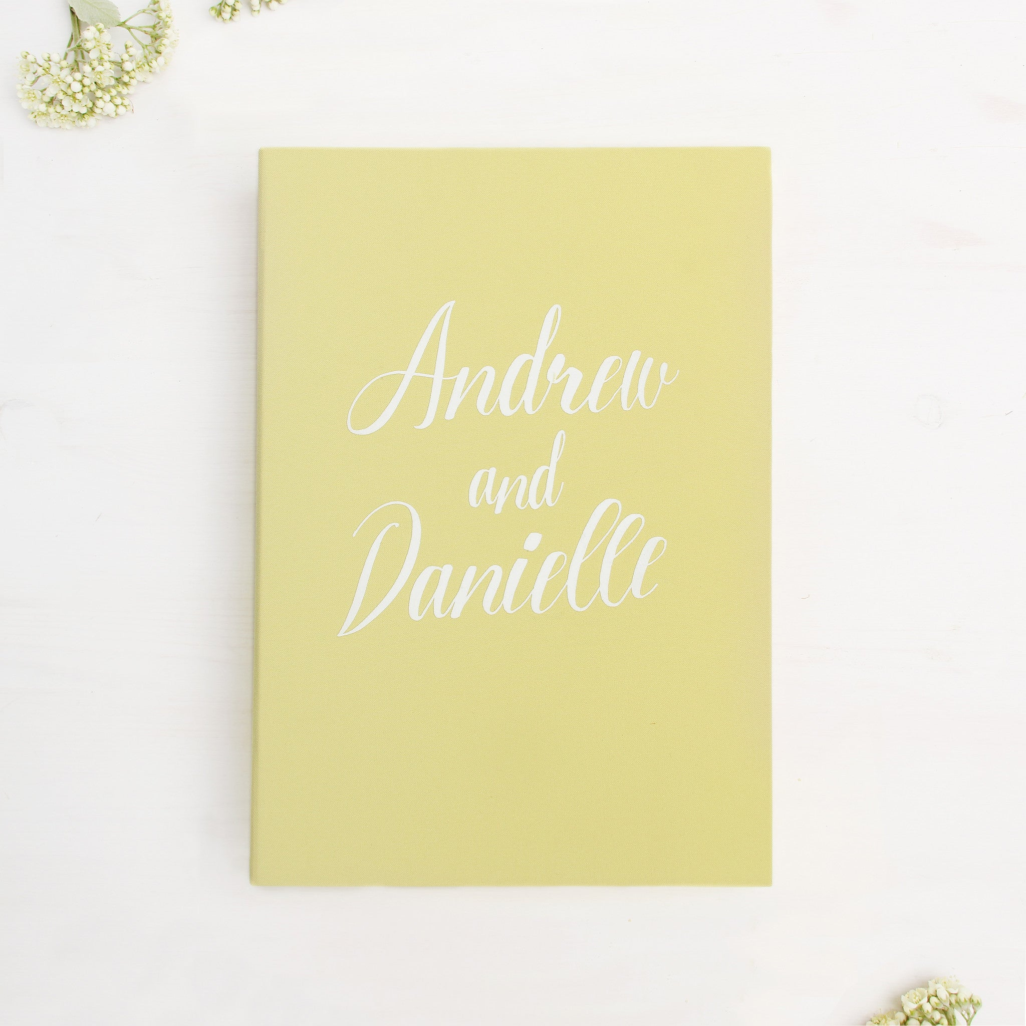 Instax Guest Book Sign in Book Instant Album Yellow with White Lettering - Liumy