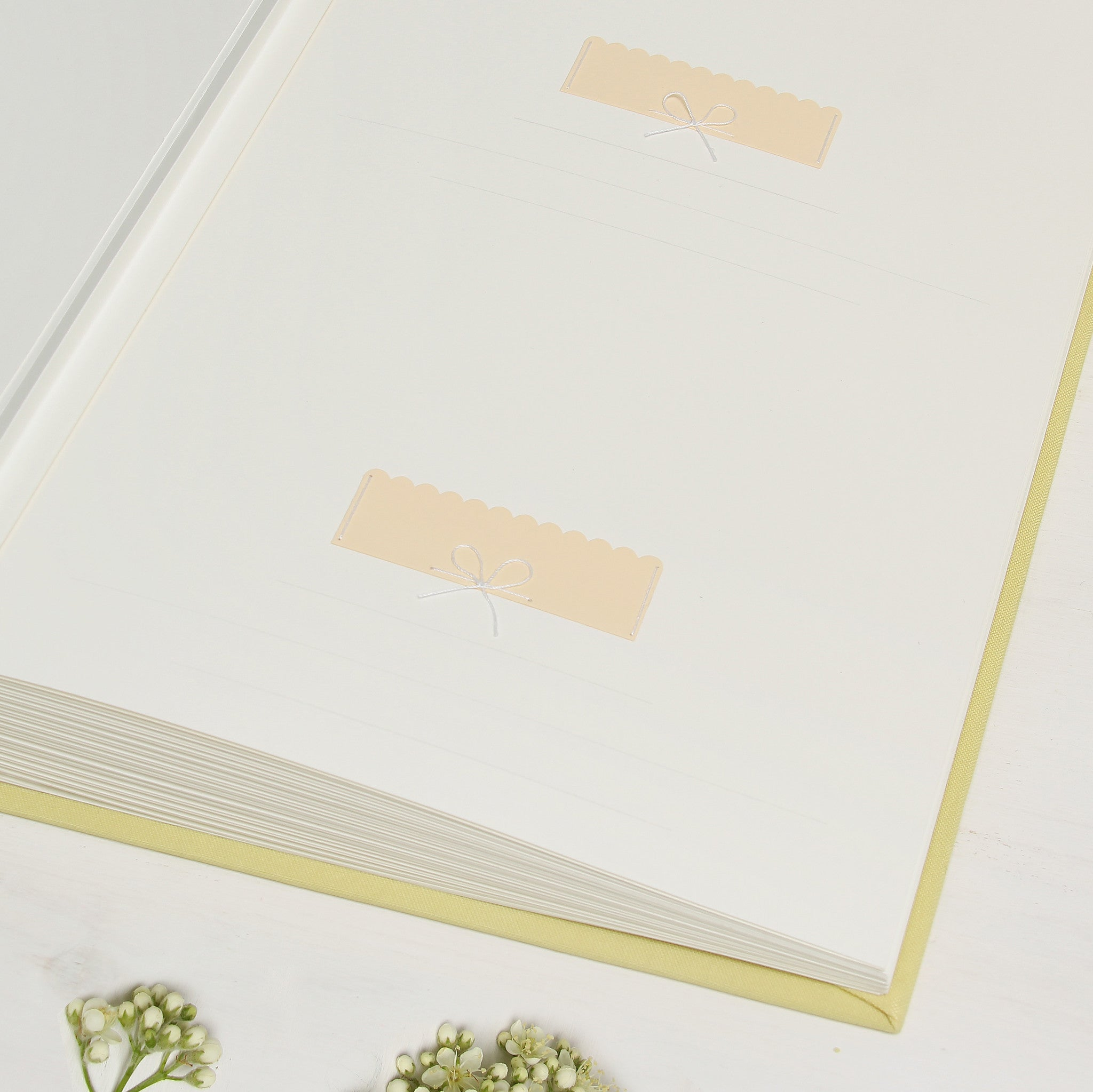 Instax Wedding Guest Book Sign in Book Album Yellow with Paper Label - Liumy