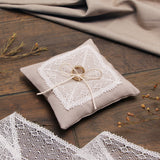 "Ring pillow ""Rustic lace"", Wedding ring pillow - Liumy"