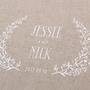 Rustic Wreath Wedding Guestbook by Liumy - Liumy