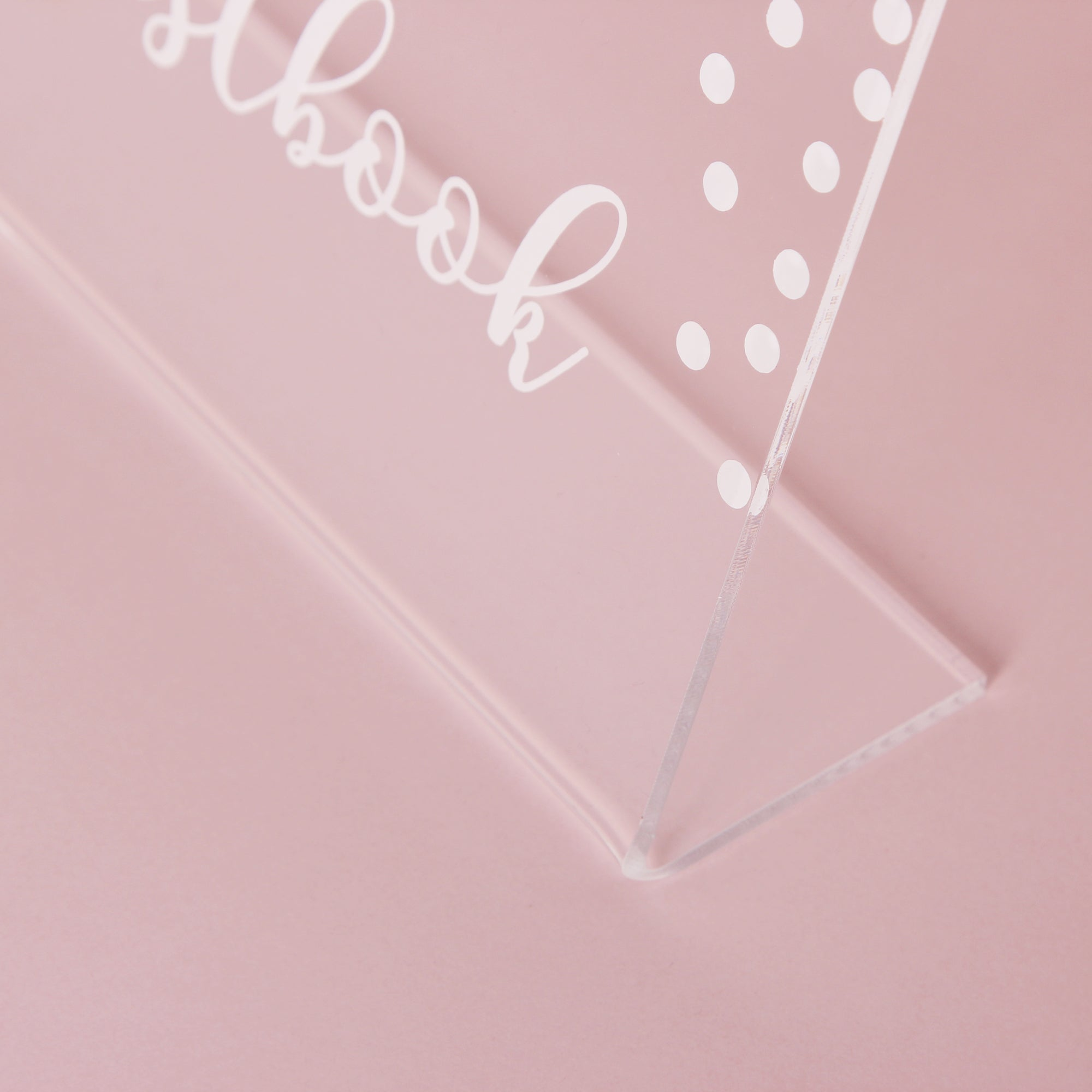 Acrylic Wedding Sign White with Dots- Guest book Glass Sign - Transperant Photo Guestbook Sign - Instax Photo Glass Sign - by Liumy - Liumy
