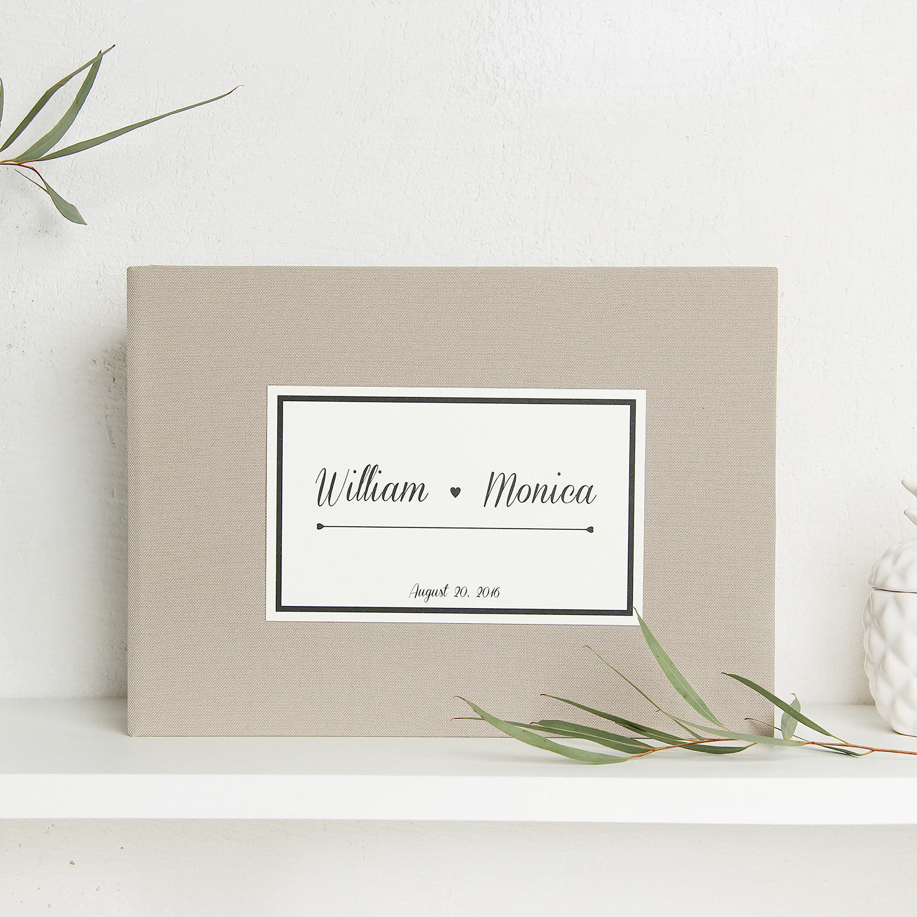 Instant Guest Book Sign in Book Album Late with Paper Label - Liumy