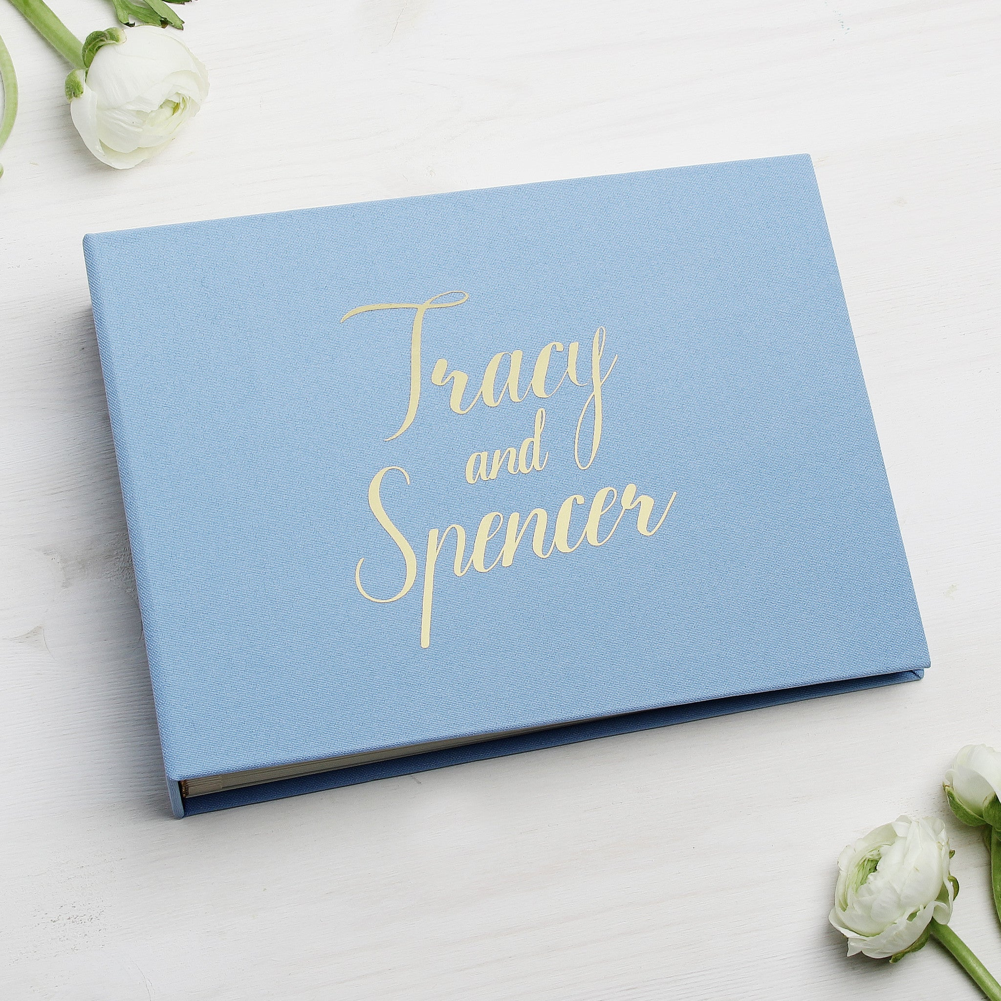 Sky Blue Instax Guestbook Gold Foil Lettering Blue Wedding Reception Decor