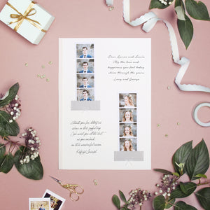 Photo Booth Wedding Guest Book Album Pink with Gold Lettering - Liumy