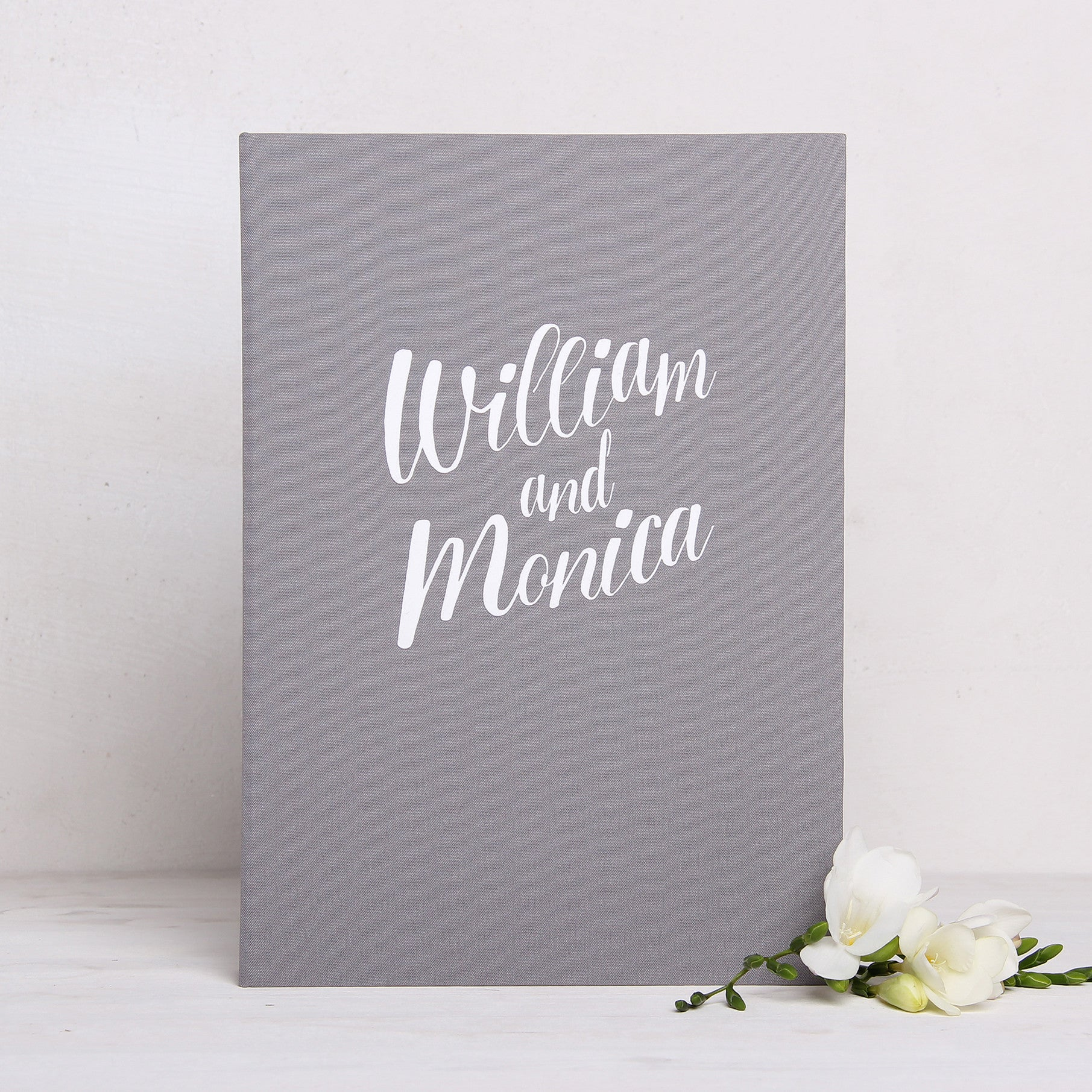 b49c2635bc48 Wedding Guest Book Birthday Album Instant Gray with White Lettering by  Liumy - Liumy