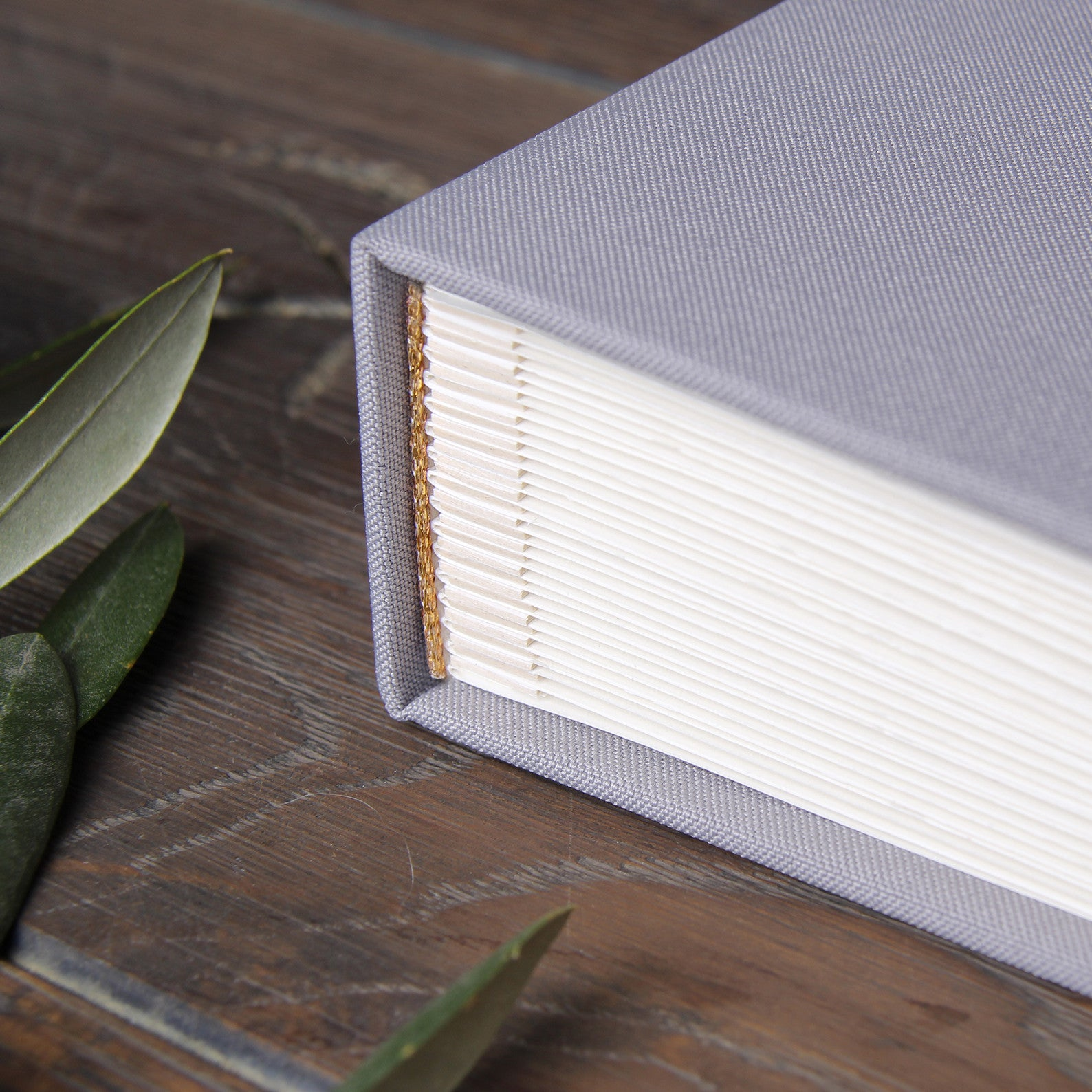 Wedding Guest Book Bridal Shower Album Gray with Gold Foil Lettering - Liumy