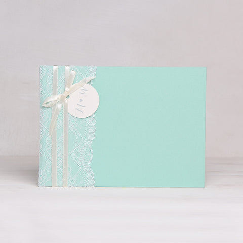 Instax Guest Book Wedding Album Instant Mint with Lace Names in First Page - Liumy