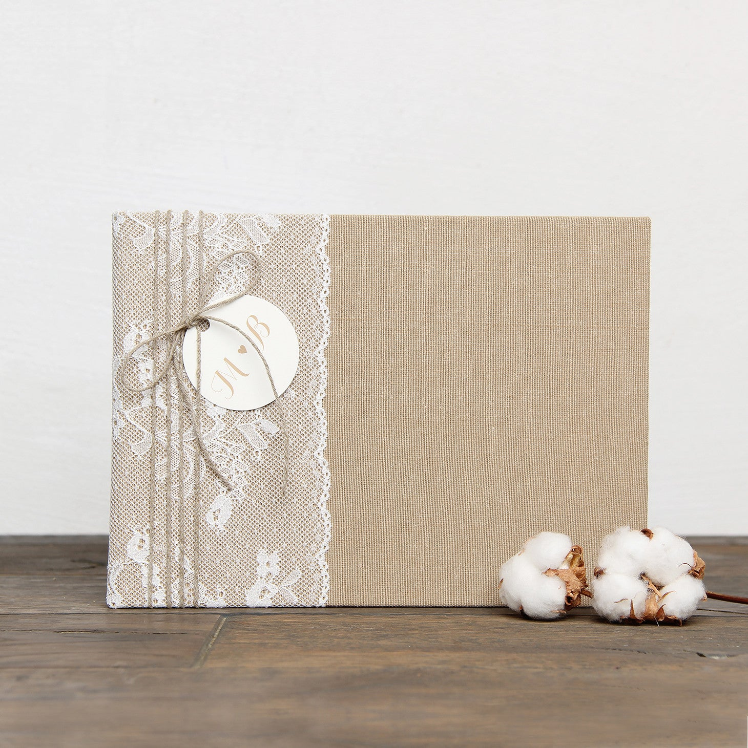 Instax Guest Book Wedding Album Instant Rustic with Lace Names in First Page - Liumy