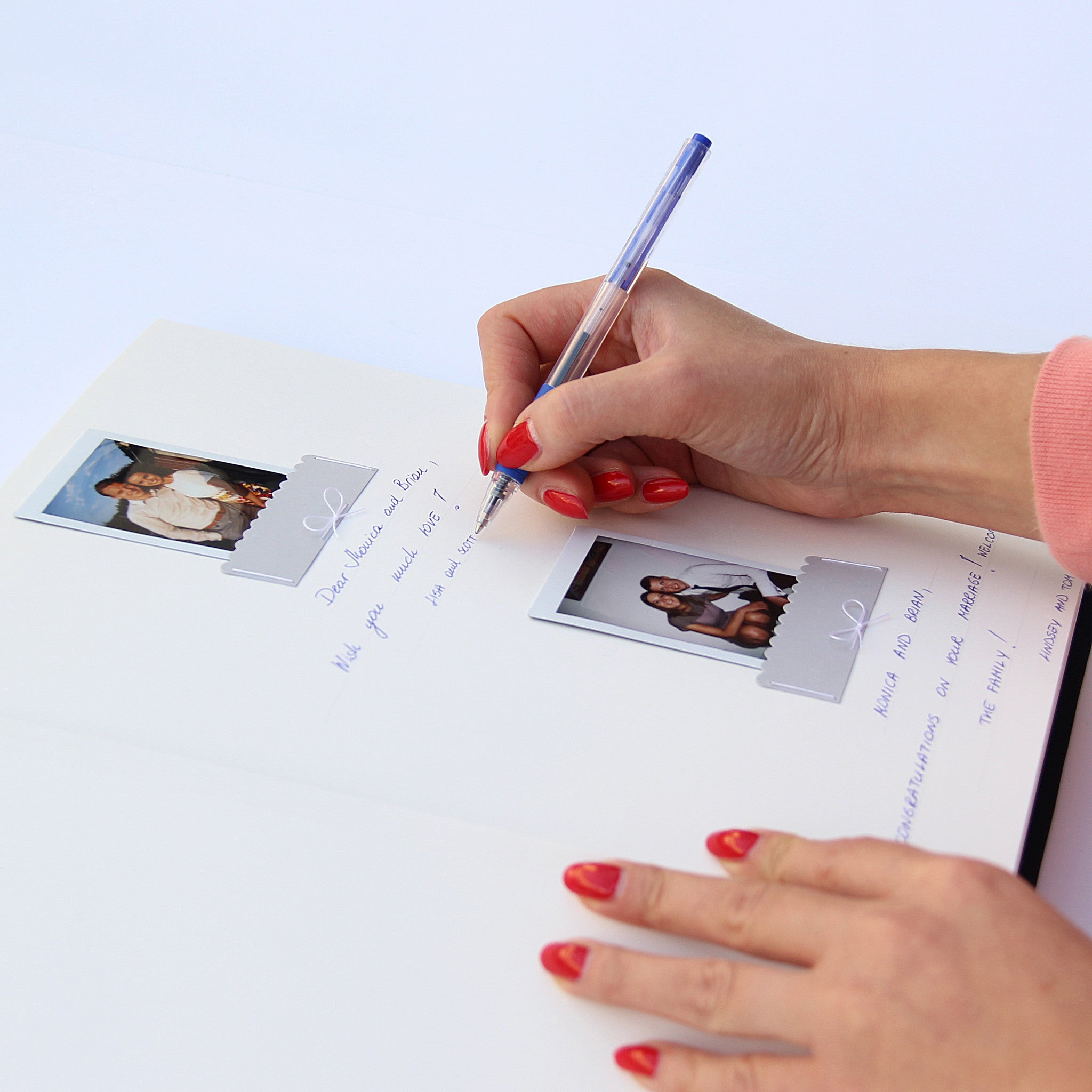 Pocket Guest Book: Polaroid Wedding Guest Book Album Royal Blue With Silver