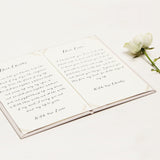 Personalised Wedding Vow Books Gold Foil Cream Keepsake Calligraphy Vows Bride and Groom Ceremony - Liumy