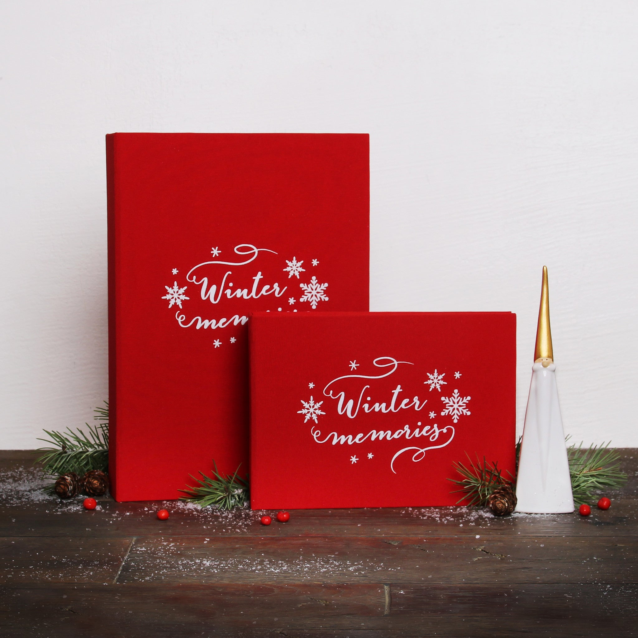 Christmas Red Guest Book Photo Album with White Lettering by Liumy - Liumy