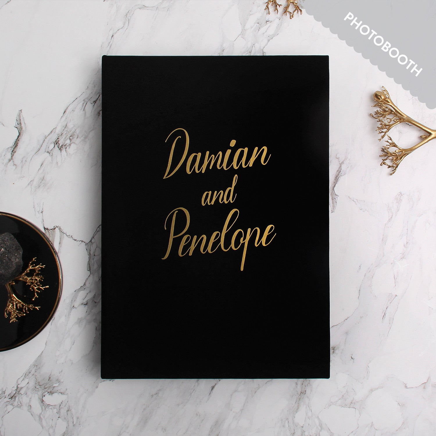 wedding guest book with black pages