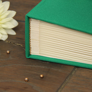 Instant Wedding Guest Book Album Shamrock Green with Black Lettering by Liumy - Liumy