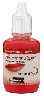 Pink Coral Pop (12ml) Li Forever Lips Semi Permanent Makeup Pigment