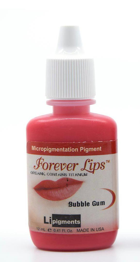 Bubblegum (12ml) Li Forever Lips Semi Permanent Makeup Pigment