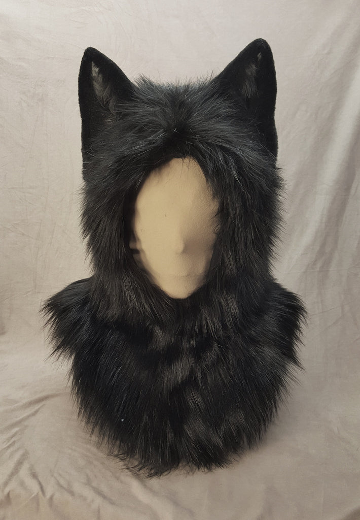 Warm Ear-Hood - Black Wolf