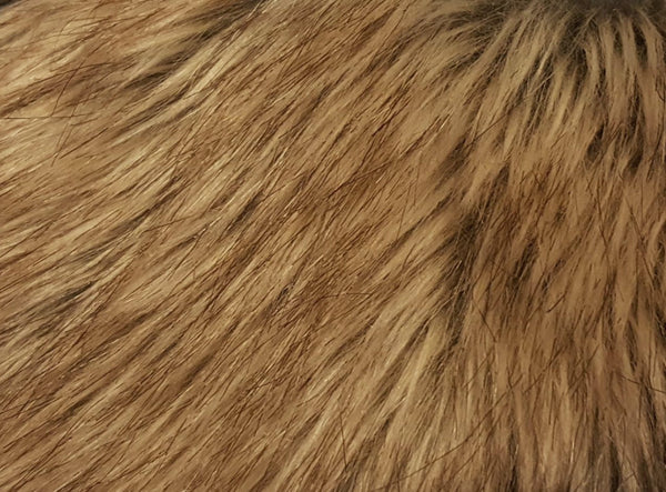 Gold Tipped Fox Faux Fur