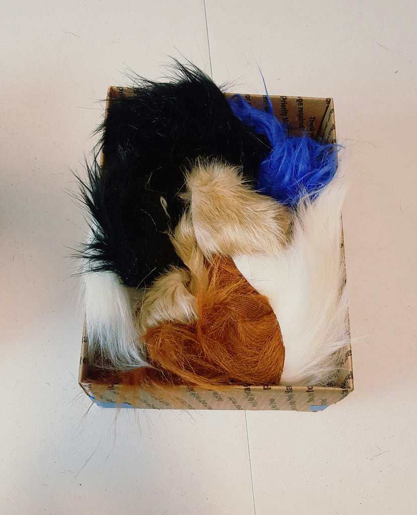 Scrap fur by the pound, assorted colors