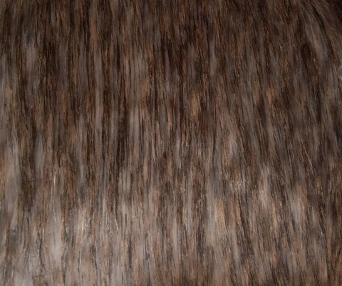 Pewter Beige Long Pile Faux Fur