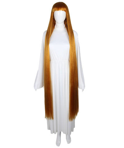 Extra Long Golden Brown Wig HW-1848