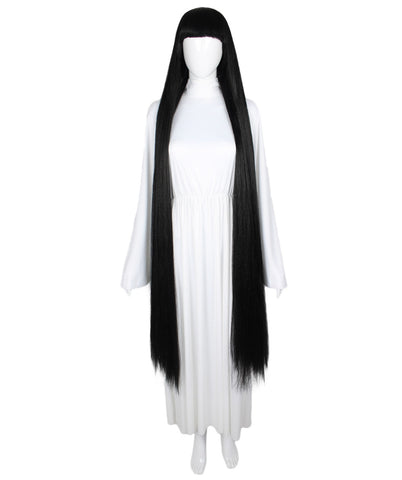 Extra Long Black Wig HW-1868