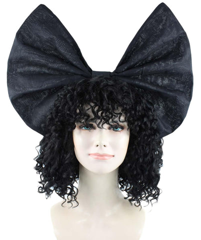 SIA CURLY HARIS BLACK BOW HW-1091