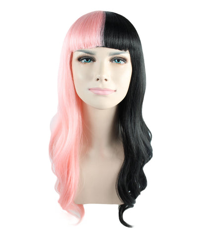 Celebrity popstar iconic Mel Martinez STYLE Pink/Black wig with fringe HW-1102