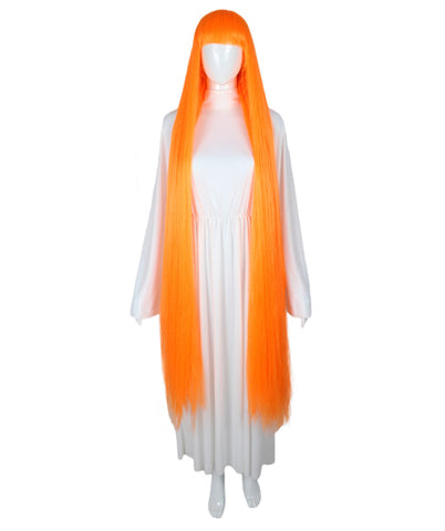 Extra Long Orange Wig HW-1846