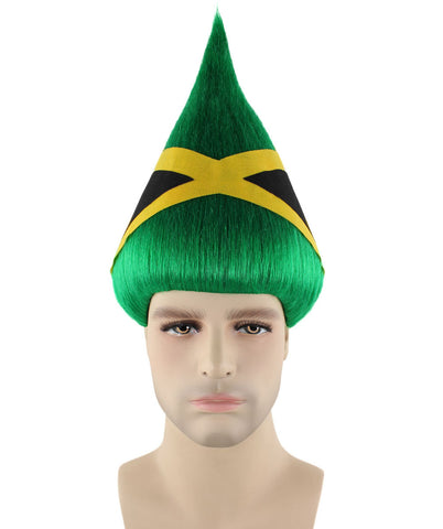 JAMAICA NATIONAL FLAG TROLLS WIG HM-204