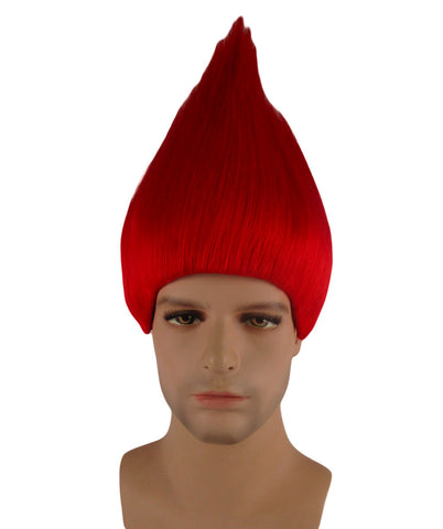 Red Christmas Elf/Santa Style Troll Wig Kid Size HM-086