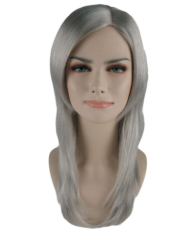 3 Layered Party Girl Adult Wig-Grey HW-580