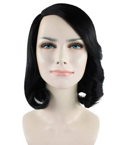 Black Curly Lady Wig HW-768