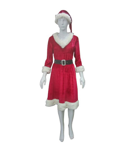 Women's Mrs. Santa Claus Costume, Red HC-093