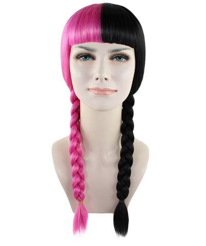 Exclusive! Wig for cosplay Melanie Pink and Black Braid style HW-1358