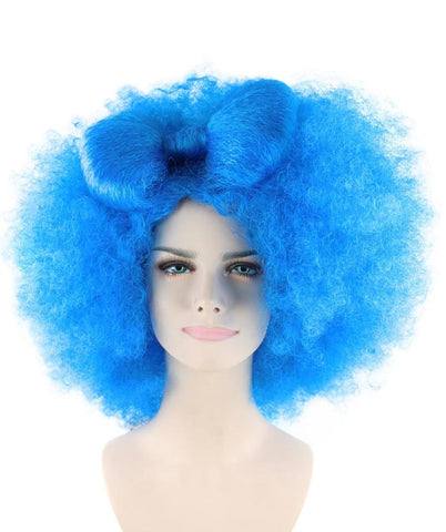 Adult Women Blue Afro Small Bow Wig HW-871 – The Hairdrobe 507024c8a3