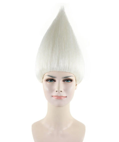 Women's Wig for Cosplay White Troll Style HW-1345