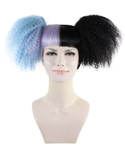 Exclusive! Wig for Cosplay Melanie Martinez Lt Blue and Black Style HW-1433