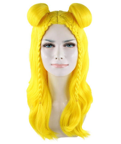 Long Braided Wig,Bright Yellow HW-1422