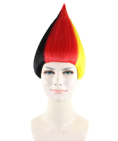 Wig for cosplay Germany Flag Trolls Style HW-1350