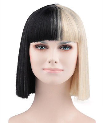 Sia Style Black and Blonde Wig HW-171