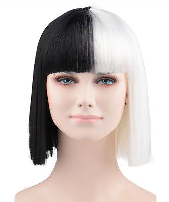 Sia Style Black and White Wig (ADULT AND KIDS SIZE!) - The Hairdrobe