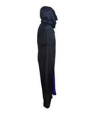 Velve Hooded Cloak Costume, Black & Purple HC-060