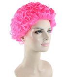 Short Curly Pink Wig HW-1835