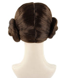 PRINCESS LEIA LEAH WIG MOVIE STAR WARS SPACE STYLE BUNS PLAIT HAIR | HW-1096