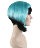 Horror Blue Black Wig HW-1593
