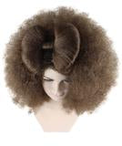 Adult Women Dark Brown Afro Small Bow Wig HW-889