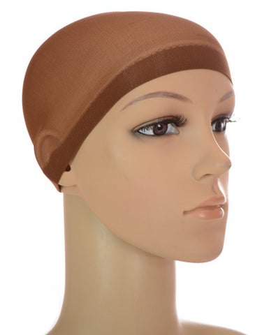 WIG CAP 2 X BROWN, ONE SIZE FITS ALL