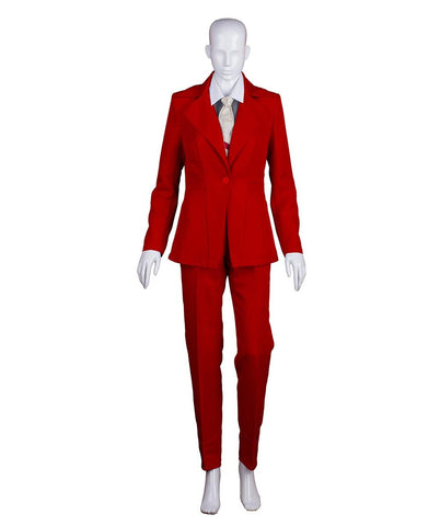 Women's Deluxe Bowie Party Suit Costume, Red Devil HC-389