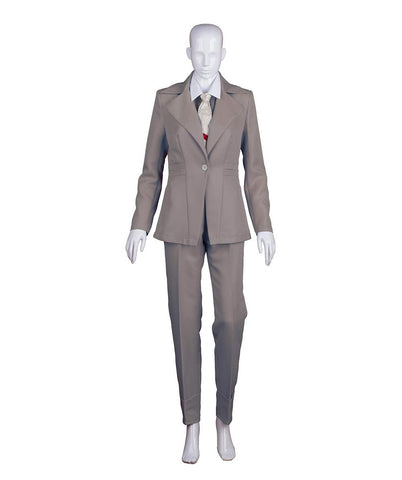 EXCLUSIVE! Women's Deluxe Costume for Cosplay Singer Bowie Grey Party Suit HC-391