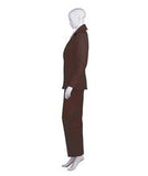 Women's Deluxe Bowie Party Suit Costume, Dark Brown HC-392